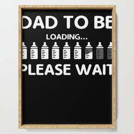 Mens Dad To Be Funny Paternity design For Men Serving Tray