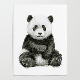 Panda Baby Watercolor Poster