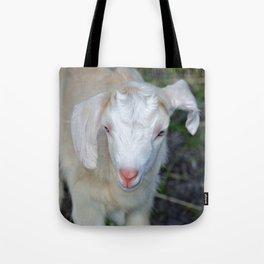 White Baby Goat Tote Bag