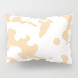 Large Spots - White and Sunset Orange Pillow Sham