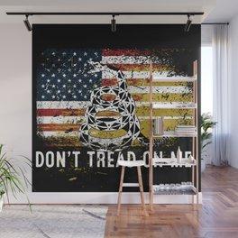 Don't Tread on Me Gadsden Military USA American Flag Rattlesnake Grunge Design Revolution Wall Mural