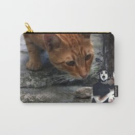 cat with pantomime confused Carry-All Pouch
