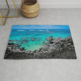 Beach in Turquoise Rug