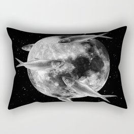 fish thank with floathing moon Rectangular Pillow