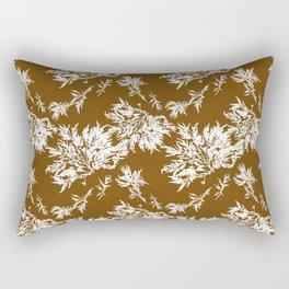 Brown Seaweed Pattern Rectangular Pillow