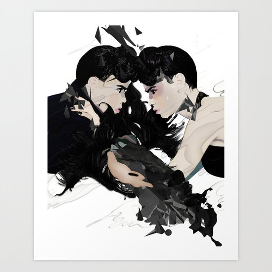 QUARREL Art Print