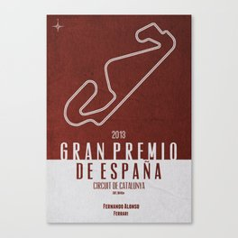2013 Spanish Grand Prix Canvas Print