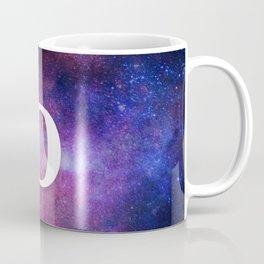 Monogrammed Logo Letter D Initial Space Blue Violet Nebulaes Coffee Mug