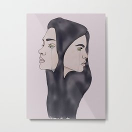 Conjoined in Color Metal Print
