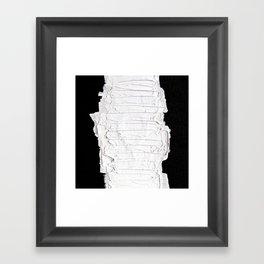 Black, White & White Framed Art Print