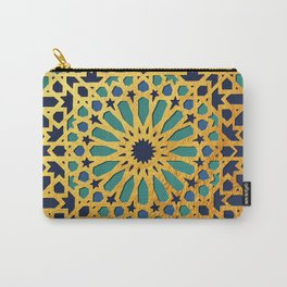 -A1_2- Golden Original Traditional Moroccan Artwork. Carry-All Pouch