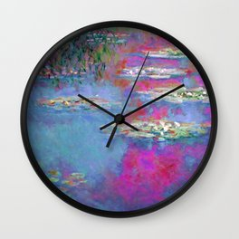 Water Lillies - Claude Monet (plastic pink) Wall Clock