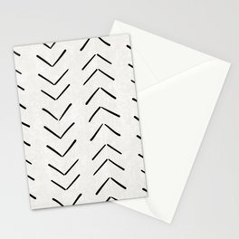 Mud Cloth Big Arrows in Cream Stationery Cards