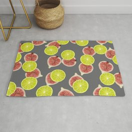 Lime Figs slices Fruit pattern #fruits #society6 Rug
