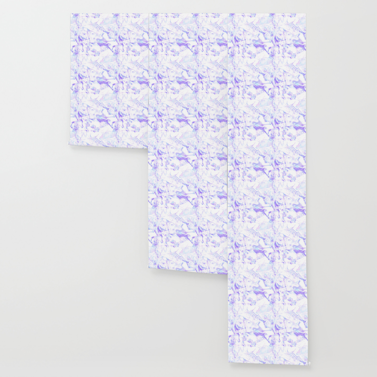 Pastel Marble Purple Blue Glitter Wallpaper By Naturemagick Society6