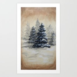 Winter in the Pines Art Print
