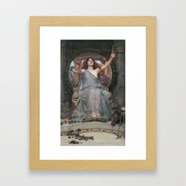 Circe Offering the Cup to Ulysses, John William Waterhouse Framed Art Print