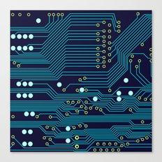 Dark Circuit Board Canvas Print