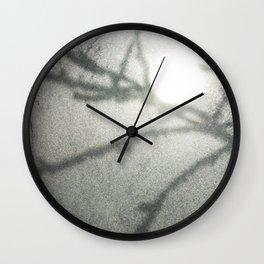 Shadow on a frosty window Wall Clock