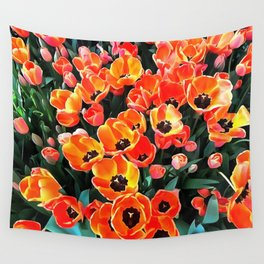 Bright Red Tulips of Istanbul Wall Tapestry