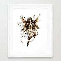 fairy Framed Art Prints featuring fairy by Vector Art