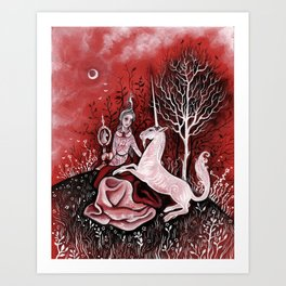 Vieille Damoiselle Art Print