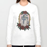 r2d2 Long Sleeve T-shirts featuring R2D2 by Bare Wolfe