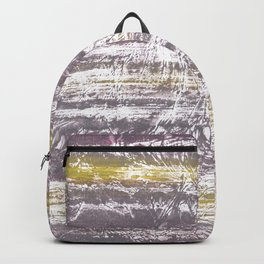 Yellow Gray colored wash drawing Backpack