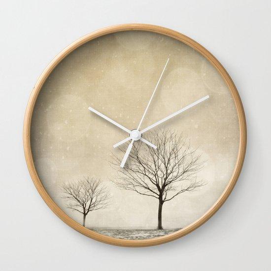 Snow Bokeh Wonderland  Wall Clock