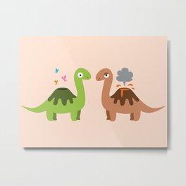 Volcanosaurus Metal Print