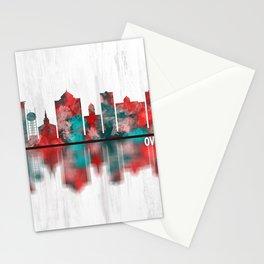 Overland Park Kansas Skyline Stationery Cards