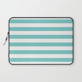 Horizontal Aqua Stripes Laptop Sleeve