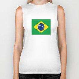 Flag of Brazil-Brazil, flag, flag of brazil, brazilian,Rio, Sao Paulo, Rio de Janiero, carnival Biker Tank