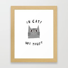 Catisfaction No. 3 Framed Art Print