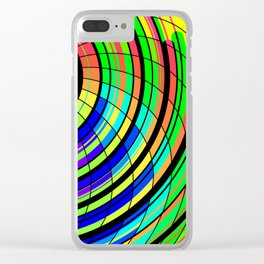 Color Whirl Clear iPhone Case