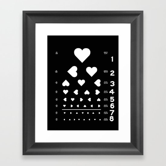 Can you see the love? Framed Art Print
