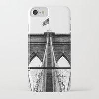 brooklyn bridge iPhone & iPod Cases featuring Brooklyn Bridge by Graham Dunk
