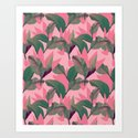 Retro Luxe Lilies Pink by katrinaward