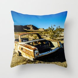 USA: abandoned town in Nevada Throw Pillow