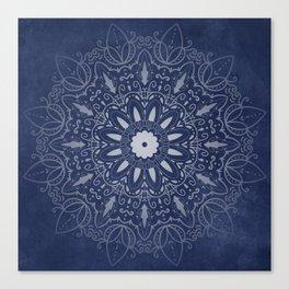 Indigo Mystique Mandala Canvas Print