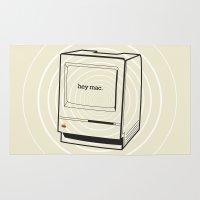 mac Area & Throw Rugs featuring mac by karen owens