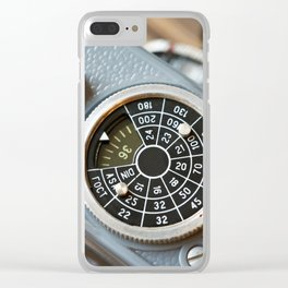 Wheel to set control sensitivity retro camera Clear iPhone Case