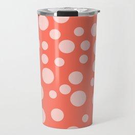 Living Coral Polka Dot Party Travel Mug