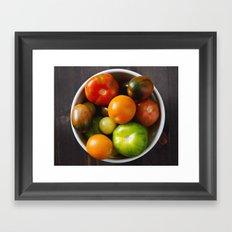summer produce Framed Art Print