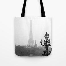 Veiled Eiffel Tower Tote Bag
