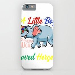 Autism Mom Shirt Autism Awareness Elephant Shirt Cute Gift T-Shirt iPhone Case