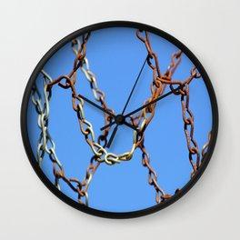 Rusty Chains Wall Clock