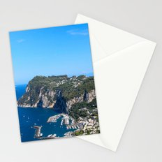 Blue Skies in Capri, Italy Stationery Cards