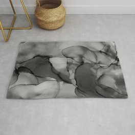 Smoke Dab in the Middle- Abstract Alcohol Ink Painting Rug