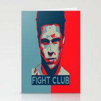 tyler spangler Stationery Cards featuring Tyler Durden by Jason Vaughan
